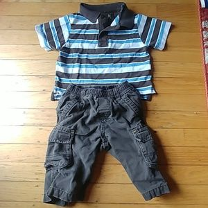 TCP Boys Shirt & Pants Outfit 6-9 months